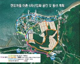 전도마을 6차 산업화 공간 및 동선 계획도