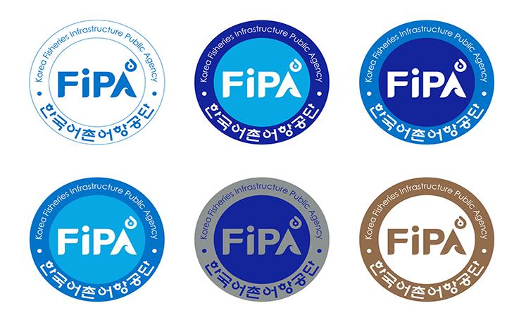 FiPA 한국어촌어항공단 Korea Fisheries Infrastructure Public Agency - 6가지 Emblem